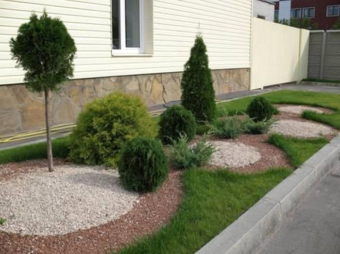 Ландшафтный дизайн участка перед домом своими руками фото
