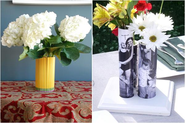 Оригинальные вазы из подручных средств