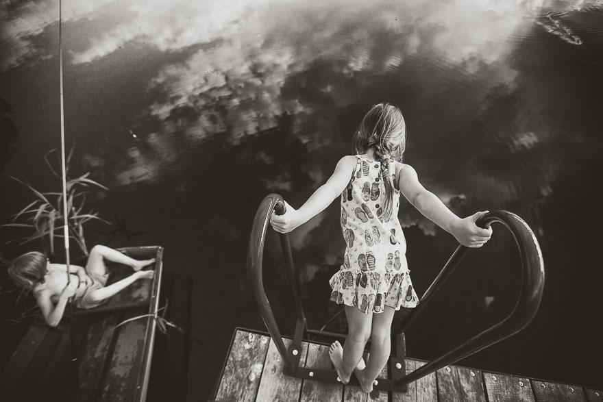 Летние каникулы в польской деревне - чёрно-белые фото-6