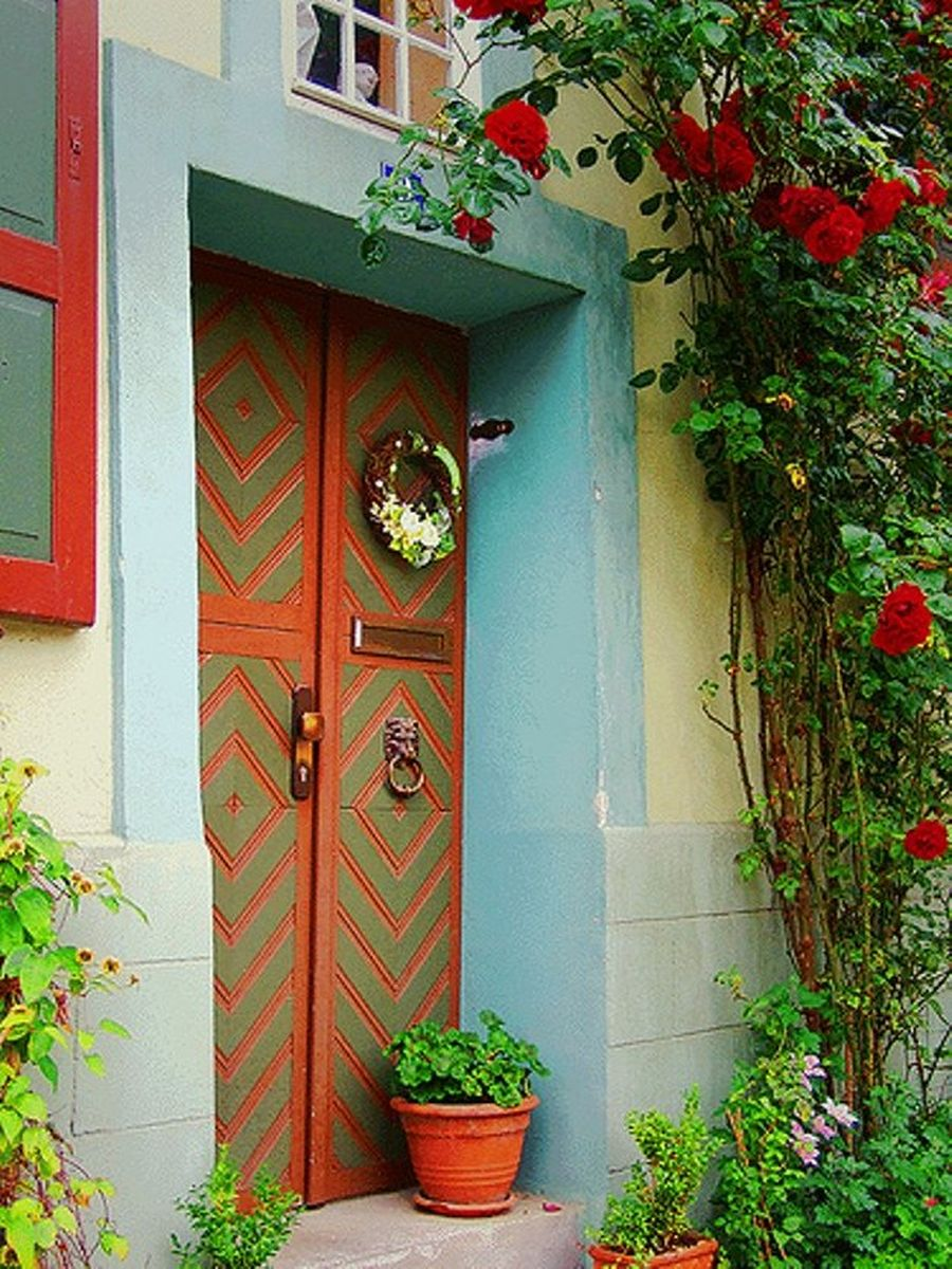 NewPix.ru - Цветы у входных дверей