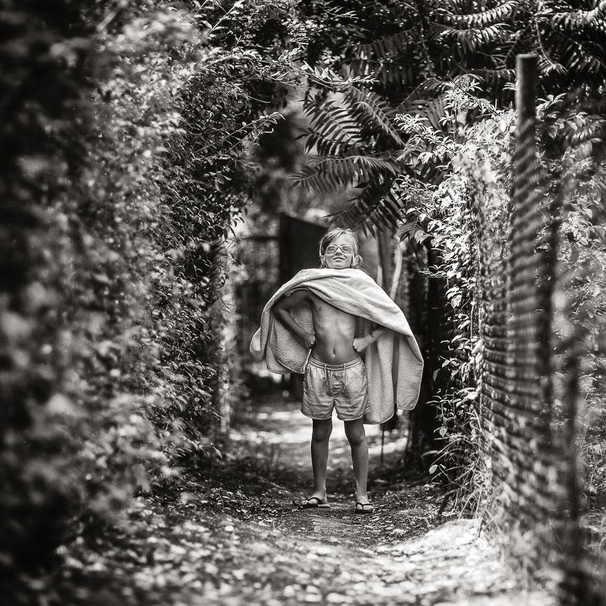Летние каникулы в польской деревне - чёрно-белые фото-25