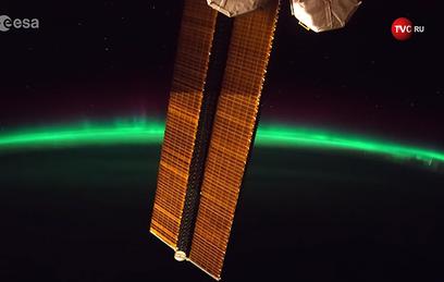 Французский астронавт снял северное сияние с МКС. Видео