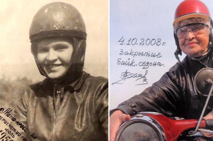 Лия Клюйкова - единственная бабушка-байкер в России.