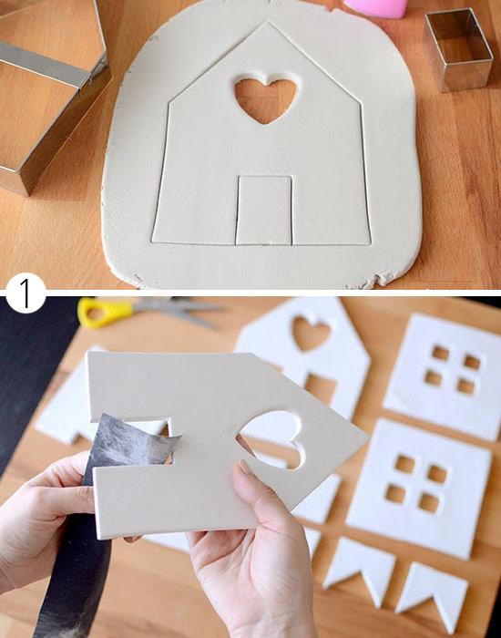 Как сделать домик из глины полимерной глины