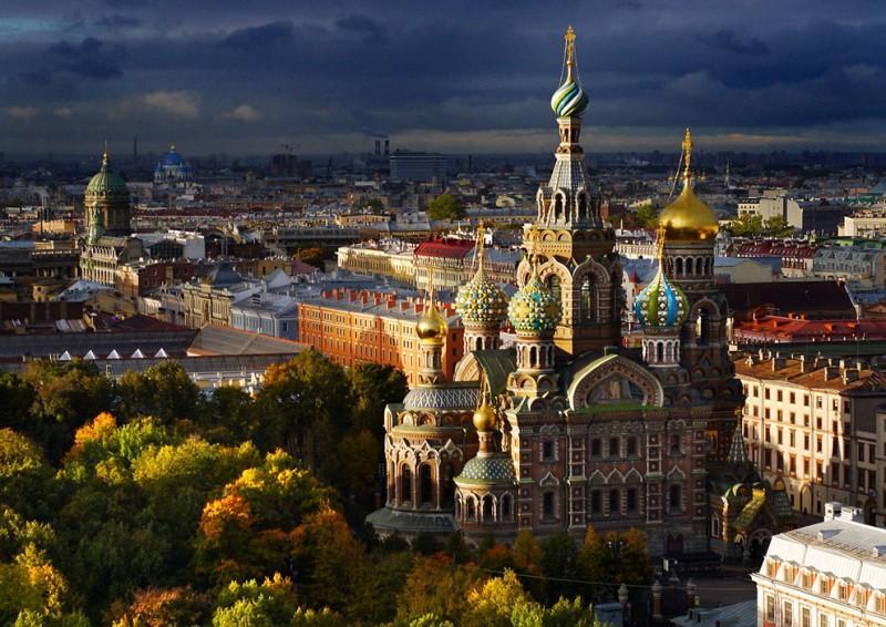 Санкт-Петербург – вид сверху