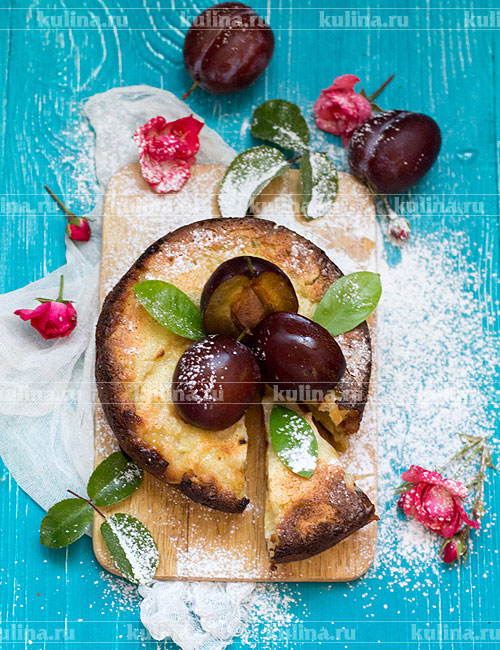 Цветаевский пирог со сливами