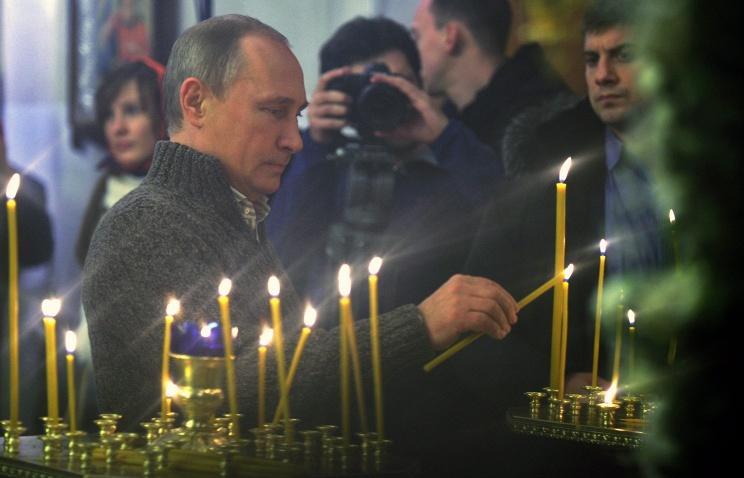 ТАСС: Путин принял участие в рождественской службе в сельском храме в Воронежской области