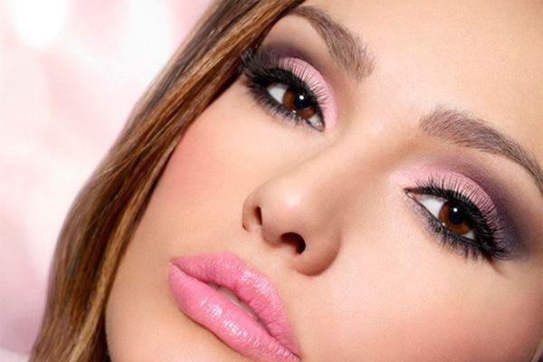 Красивый дневной макияж карий глаз
