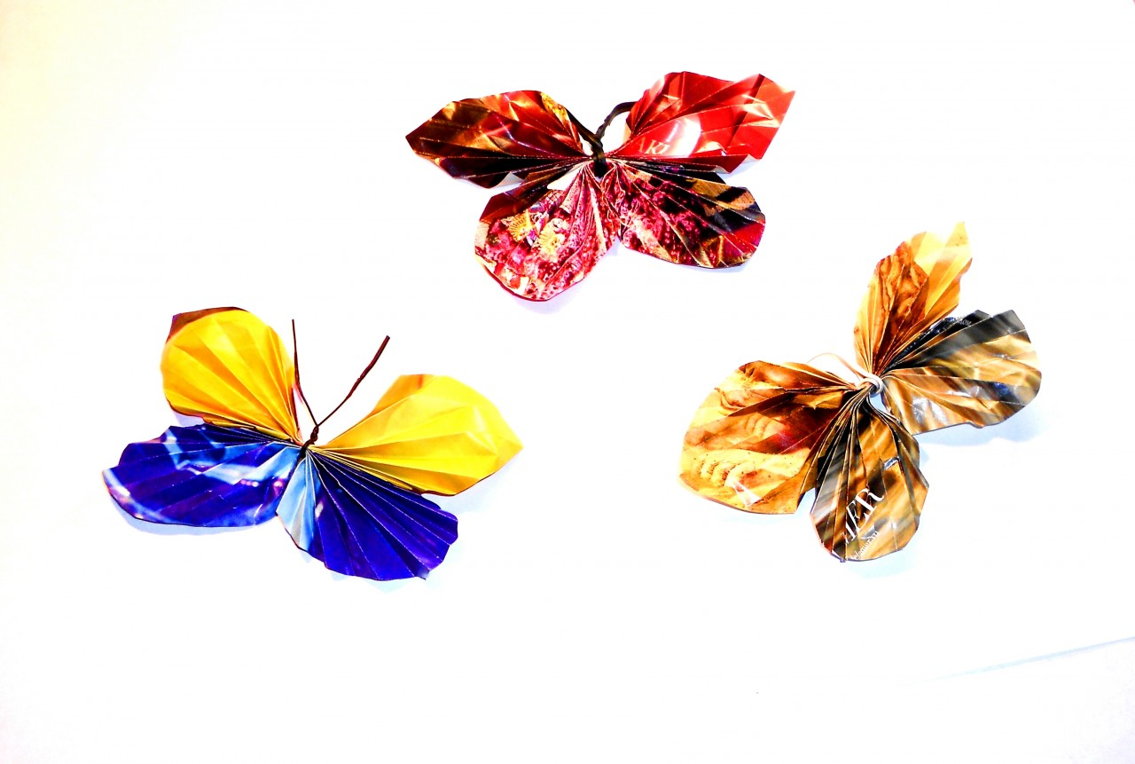 Бабочки из бумаги. Поделки с…