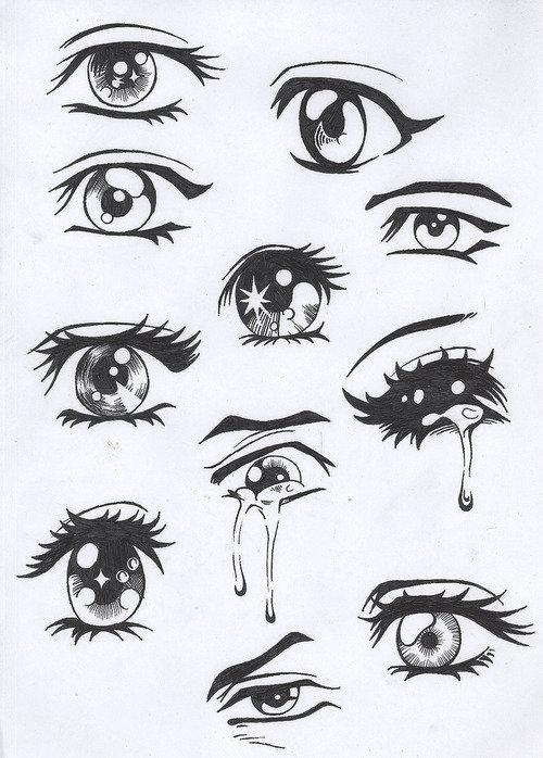 глаза - аниме