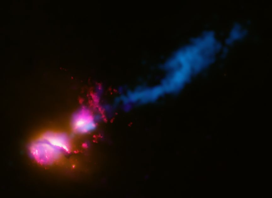 3C321: Black Hole Fires at Neighboring Galaxy