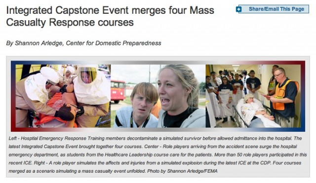 FEMA Integrated Capstone Event