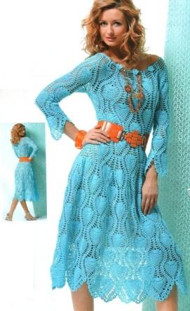 Очень красивое платье крючком