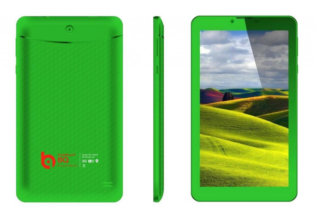 BQ 7002G Green 1024x711 BQ выпустила планшет c необычным корпусом
