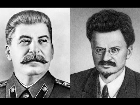 Сталин и Троцкий - политические противники.