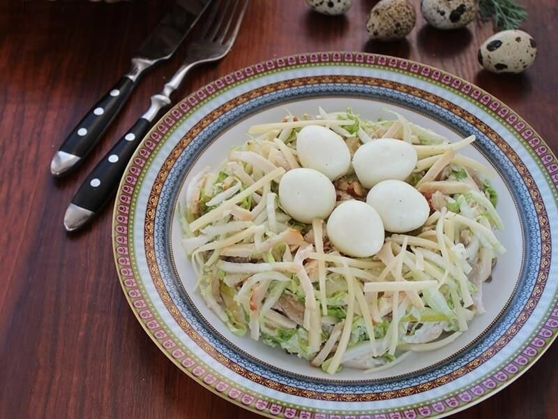 Салат «Гнездо Аиста» — Всегда готовлю на праздники