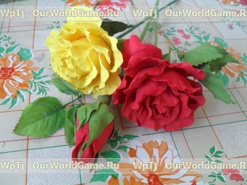 МК. Розы из Фоамирана.
