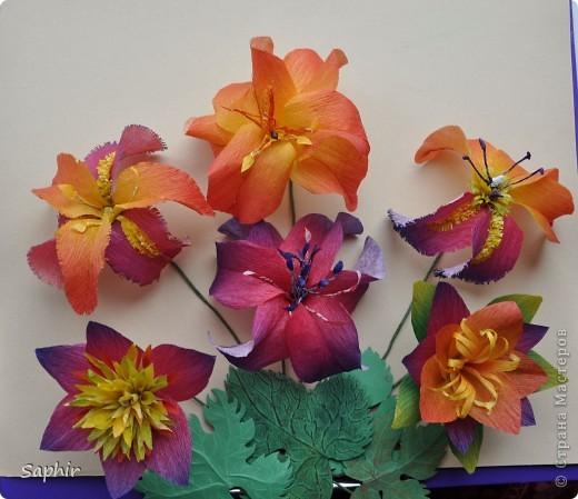 Поделка изделие Бумагопластика цветы из гофробумаги  мастер-класс Бумага гофрированная фото 2