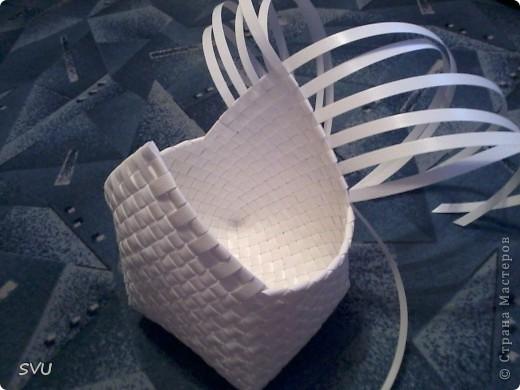 Мастер-класс Плетение Плетение корзинки из упаковочной полипропиленовой стреппинг ленты Полиэтилен фото 34