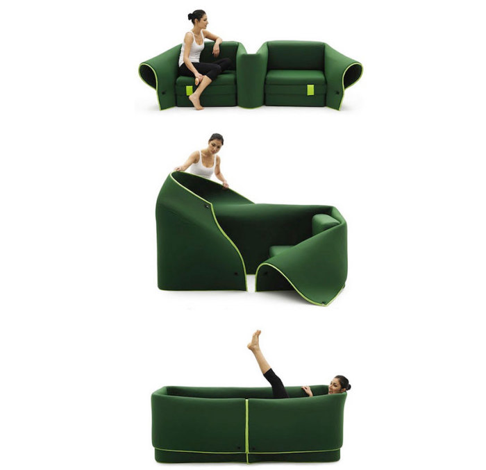 Кровать-трансформер от Emanuele Magin.