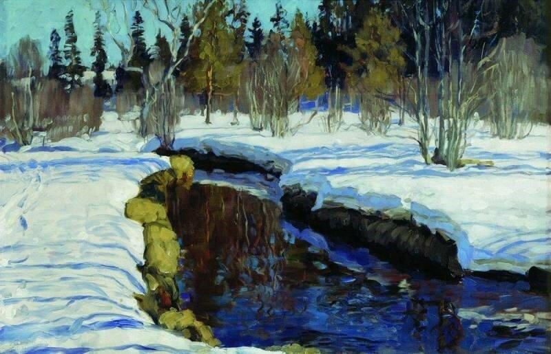 """""""Зима"""", 1910, холст, масло"""