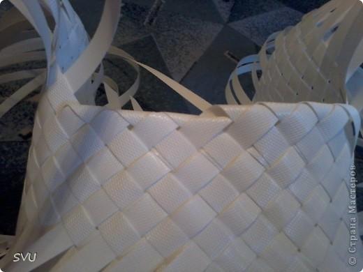 Мастер-класс Плетение Плетение корзинки из упаковочной полипропиленовой стреппинг ленты Полиэтилен фото 21