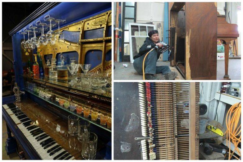 12 нестандартных способов использования старого пианино