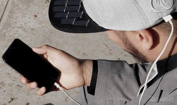 Кепка SolSol зарядит смартфон в ясную погоду