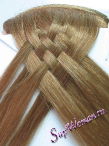 Плетение косичек из 8 прядей