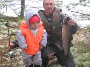 Наш первый лосось