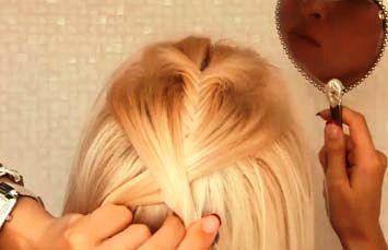 Прическа. Необычная коса