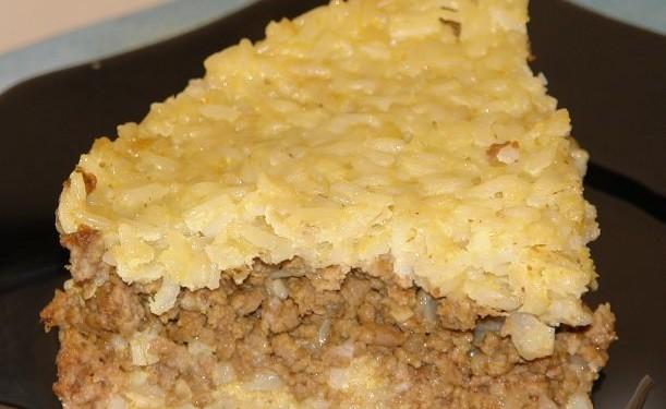 Запеканка рисовая с мясом
