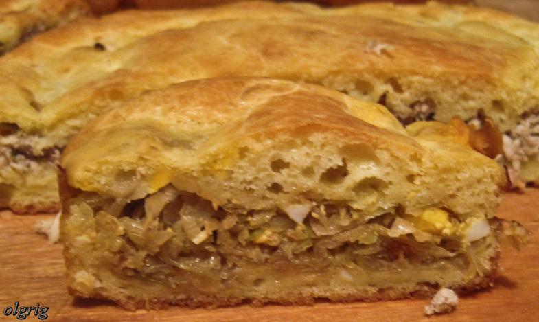 Пирог с мясом рецепт с на сметане в