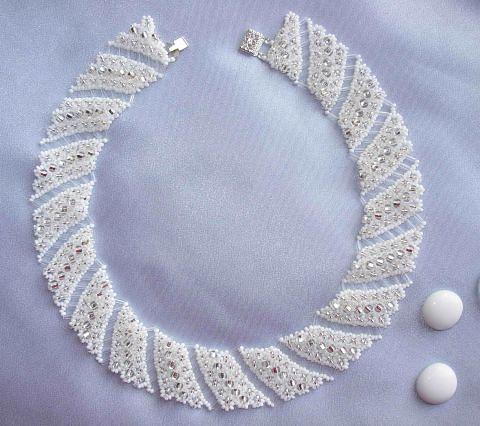 Ожерелье из бисера. Схема плетения