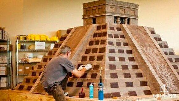 Самая большая шоколадная скульптура в мире!