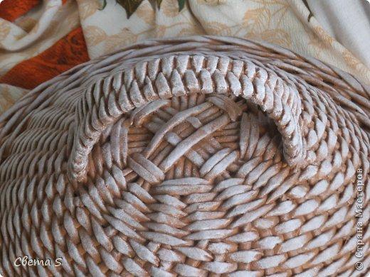 Мастер-класс Поделка изделие Плетение Корзины для овощей - Бумага газетная Трубочки бумажные фото 9