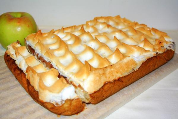 Пирог с яблоками тесто с творогом