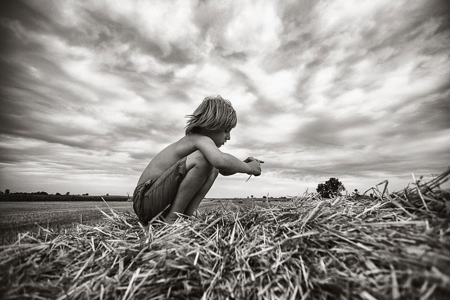 Летние каникулы в польской деревне - чёрно-белые фото-22
