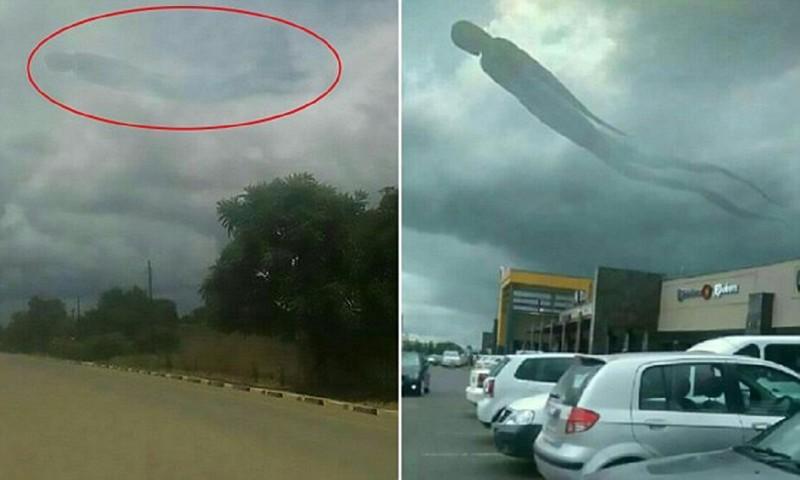 Облачный призрак до смерти напугал посетителей торгового центра в Замбии