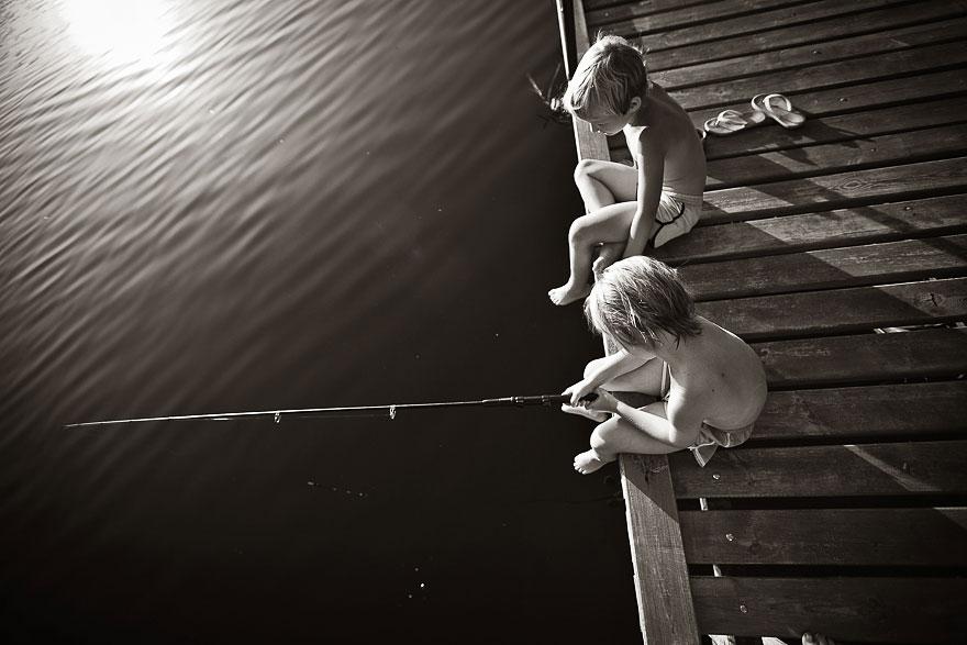 Летние каникулы в польской деревне - чёрно-белые фото-20