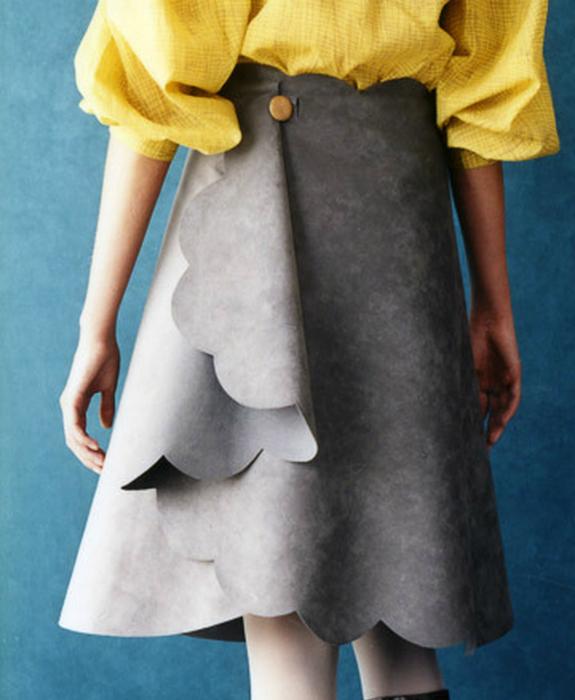 Оригинальная юбка с запахом.