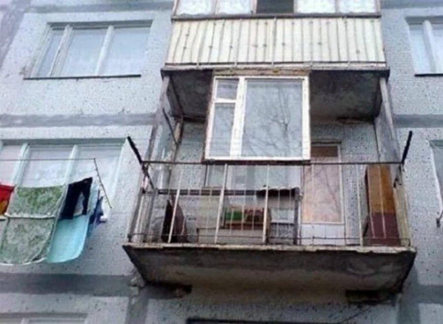 17 забавных снимков об удивительных и неповторимых балконах .
