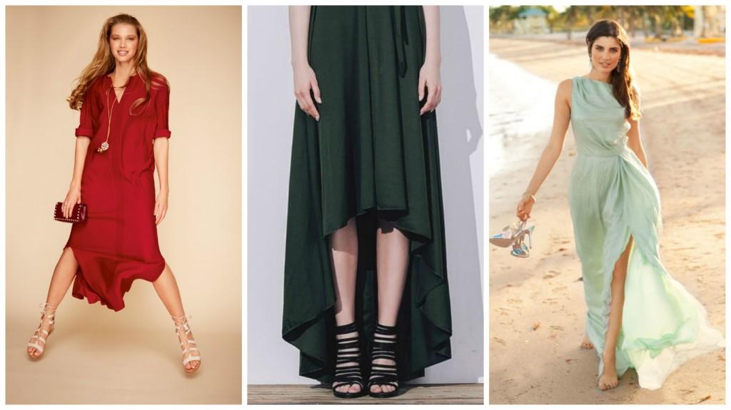 Фото длинных платьев для низких