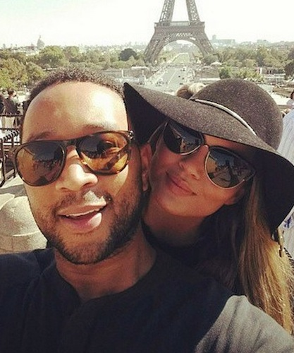 So In Love: Chrissy Teigen and John Legend Get Romantic in Paris, and 5 More Adorable Celeb Couples on Instagram