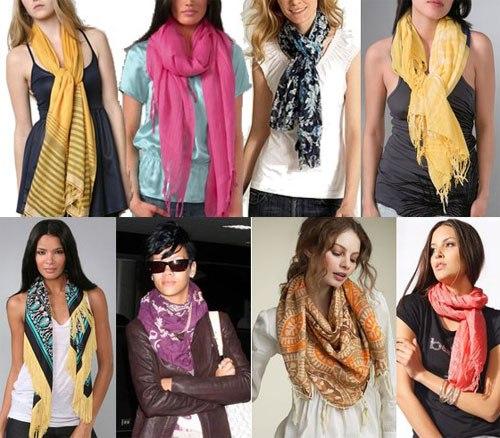 С чем можно носить шарфик
