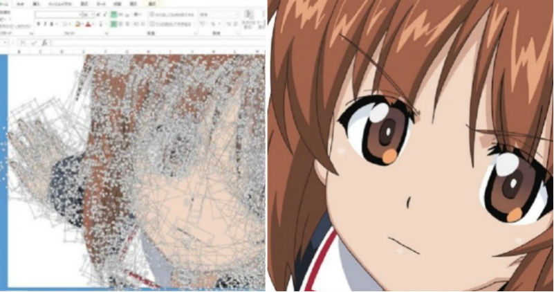 Работа с таблицами — уровень «бог»: японец рисует аниме в Excel