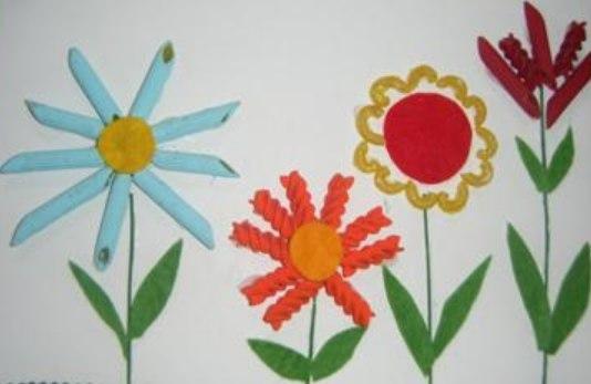 Поделки из макарон с детьми своими руками фото