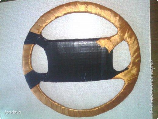 Мастер-класс Золотой руль из конфет повторюшка и мой первый мастер класс  фото 10