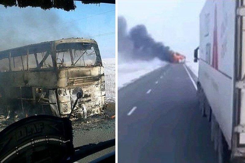 В Казахстане в автобусе сгорели 52 человека