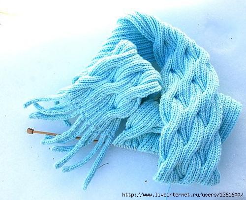 Очень нежный двусторонний шарф